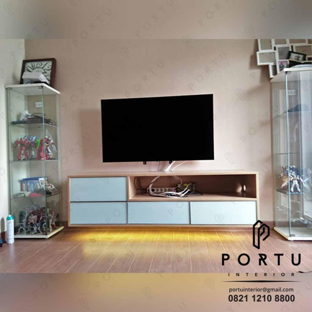 credenza tv design minimalis finishing hpl