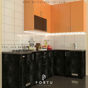 model kitchen set minimalis untuk dapur cantik by Portu Interior