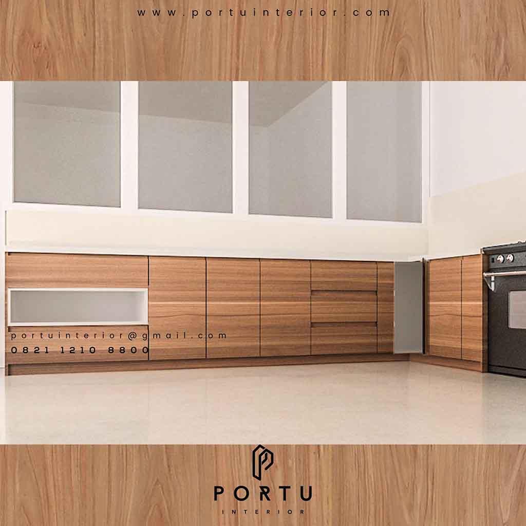 Buat Kabinet Bawah Dapur Custom Di Portu Interior
