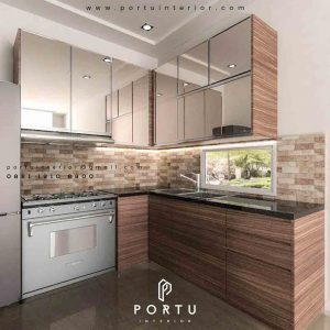 buat kitchen set custom minimalis modern di Portu Interior id3257
