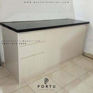 contoh dapur bersih model letter i by Portu Interior