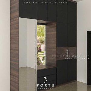 design lemari pakaian pria model letter i produksi Portu id3234