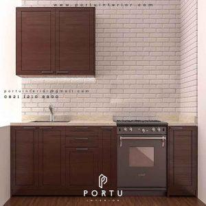 buat kabinet dapur bawah design klasik percantik dapur
