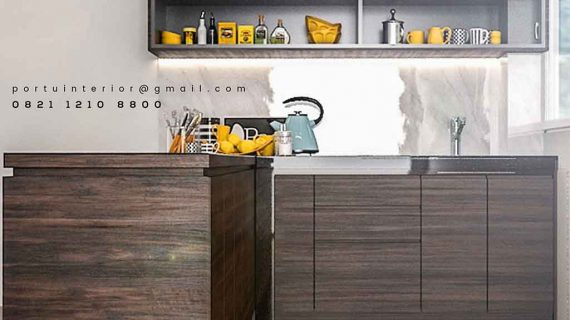Model Kitchen Set Dapur Bersih Portu Interior