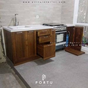 kabinet dapur bawah klasik custom Portu Interior
