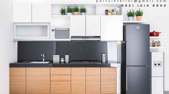 contoh design lemari dapur minimalis modern id3488