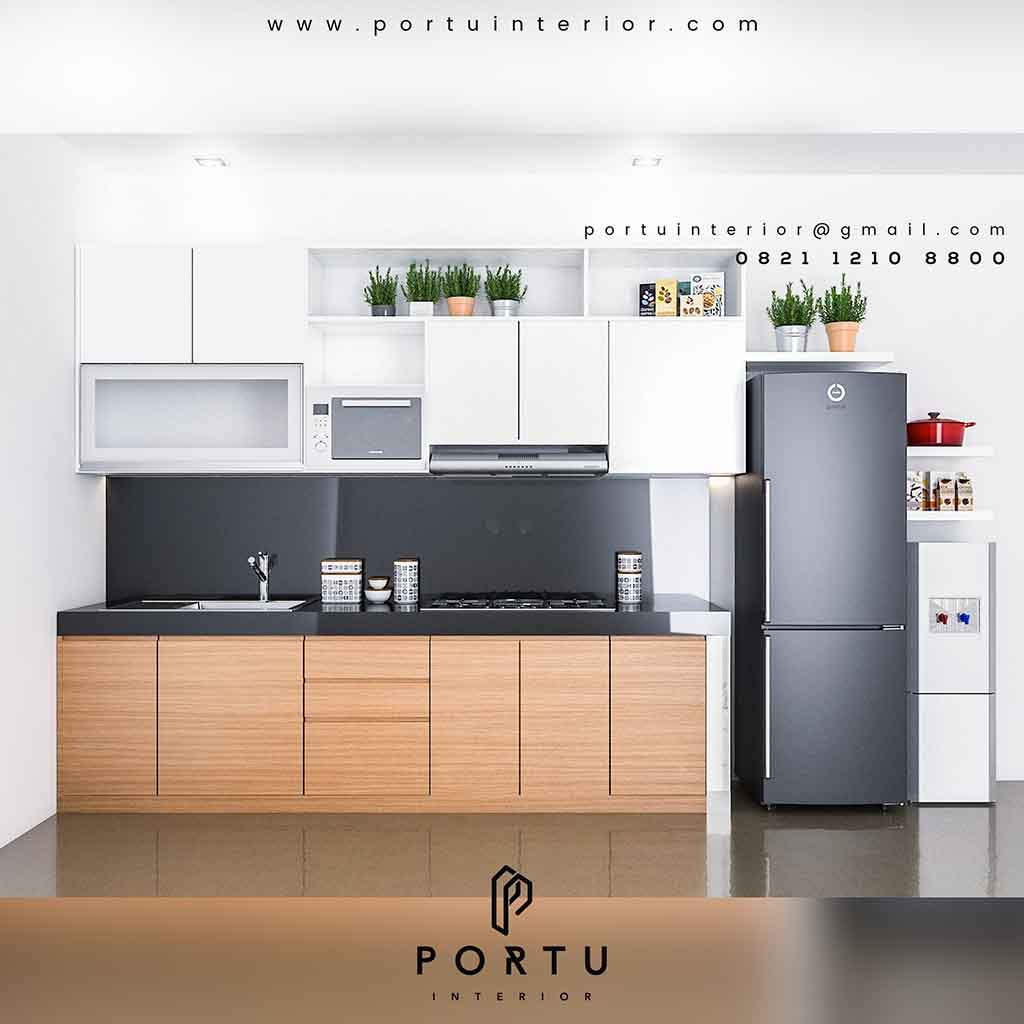 Kitchen Set Warna Orange: Portu Interior