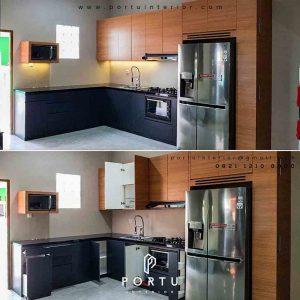 contoh kitchen cabinet minimalis di Bekasi by Portu id3485