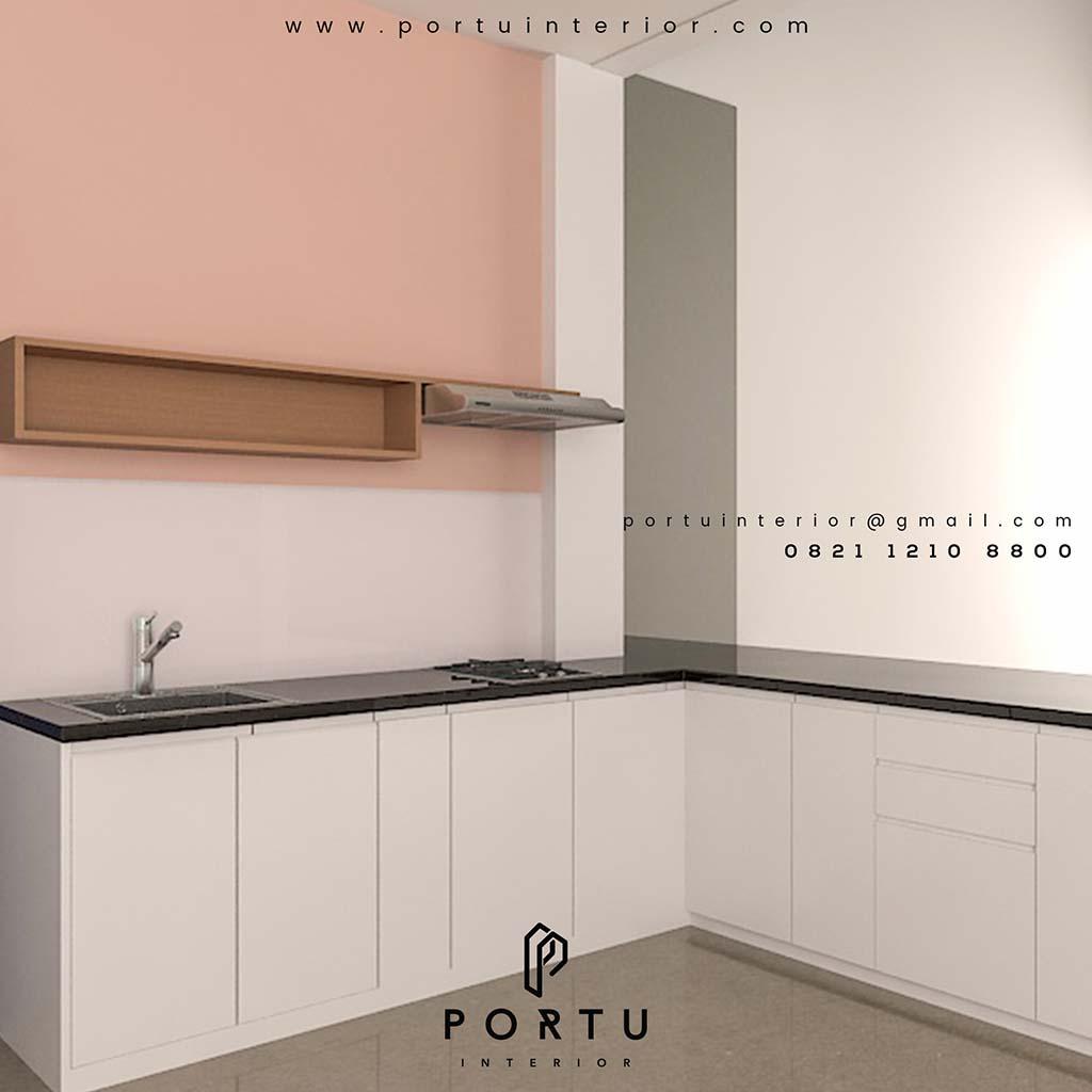 Kitchen Set L Design: Design Kitchen Set Letter L Project Daan Mogot Pesing