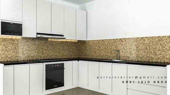 Kitchen Set Minimalis Warna Putih Cantik Di Summarecon Bekasi