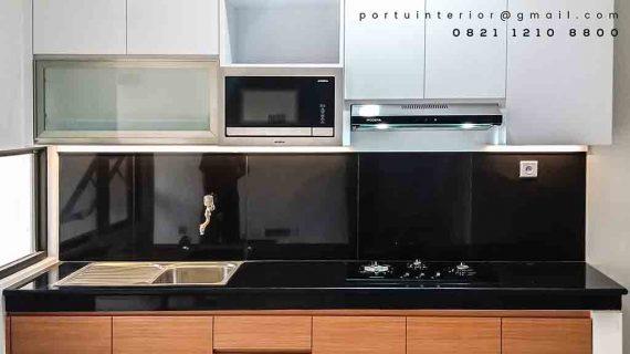 design lemari dapur minimalis kombinasi warna di Bintaro id3488