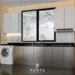 design kitchen set minimalis terbaru by portu interior