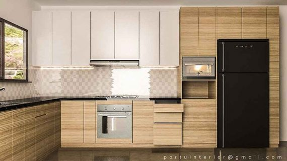 harga kitchen set minimalis per meter finishing hpl
