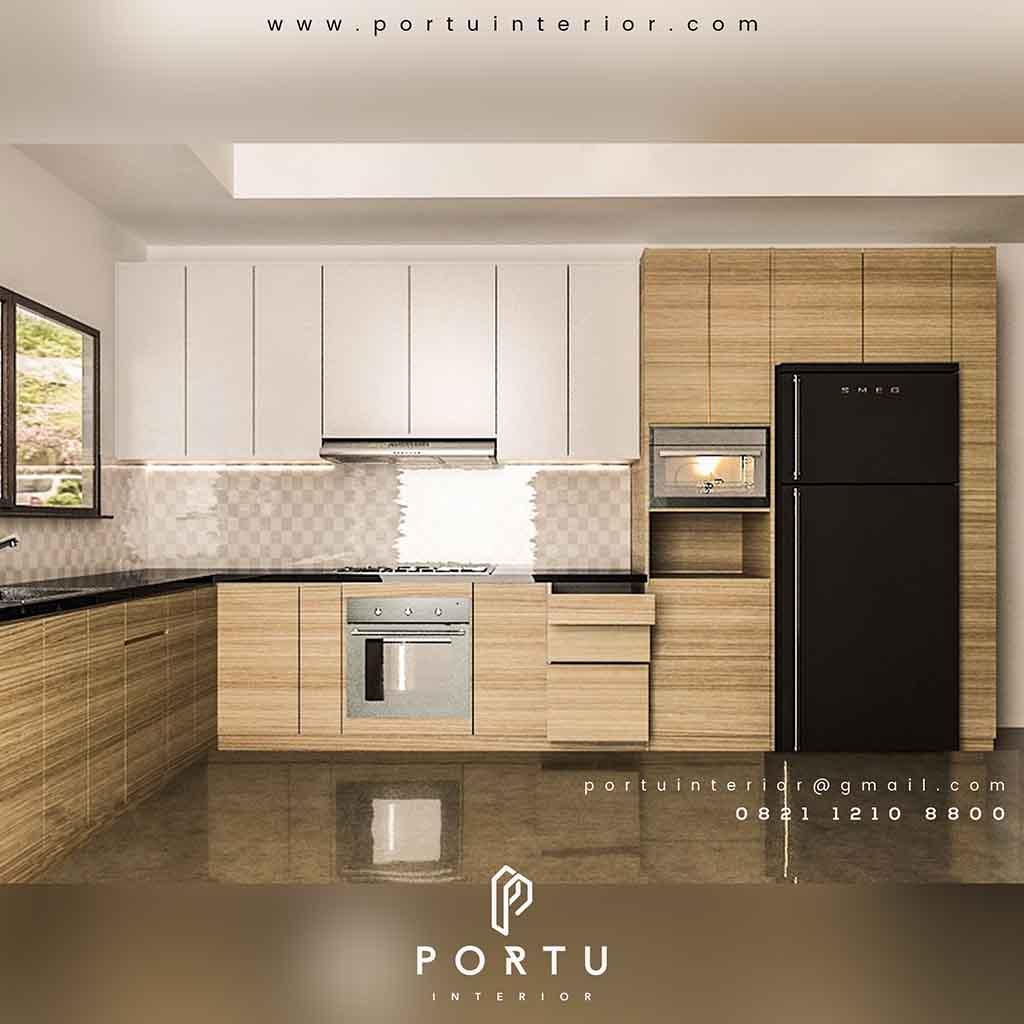 Harga Kitchen Set Minimalis Per Meter Finishing Hpl Portu Interior