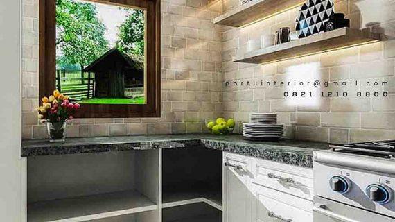 jasa pembuatan kitchen set custom by Portu Interior