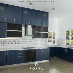 jual kitchen set design minimalis custom di Portu Interior