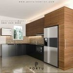 kitchen set minimalis 2019 design custom by Portu Interior