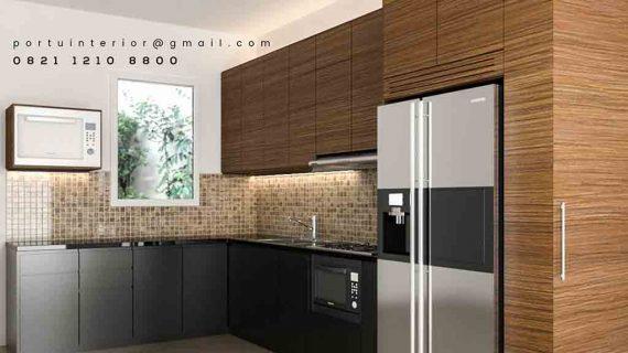 kitchen set minimalis 2019 design custom by Portu Interior