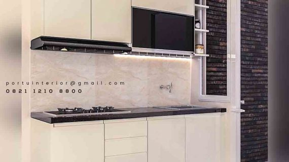 kitchen set minimalis modern letter i portu interior