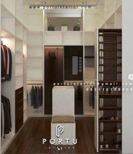buat walk in closet custom berkualitas di portu interior