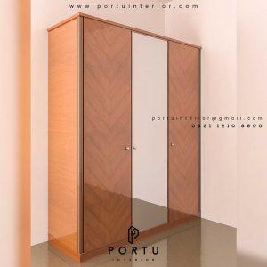 desain wardrobe sesuai kebutuhan by Portu Interior