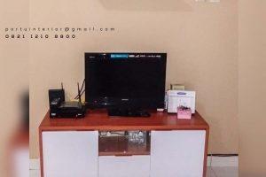 credenza tv minimalis dan simple kombinasi warna by Portu id3345
