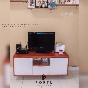 credenza tv minimalis dan simple kombinasi warna by Portu id3345
