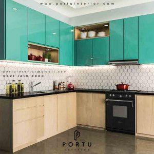 design kitchen set minimalis modern letter L project PIK id3391