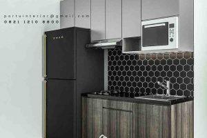 jasa pembuatan kitchen set apartemen di Cawang id3454