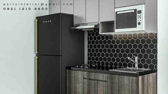 Jasa Pembuatan Kitchen Set Apartemen Green Signature Cawang Jakarta Timur