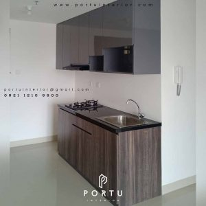 jasa pembuatan kitchen set apartemen minimalis by Portu Interior id3454