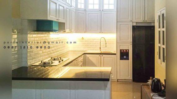 jasa pembuatan kitchen set klasik project Bintaro id2264