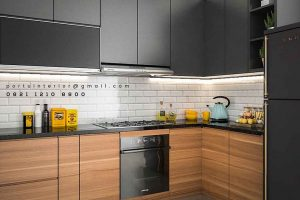 model kitchen set letter l by Portu Interior id3482