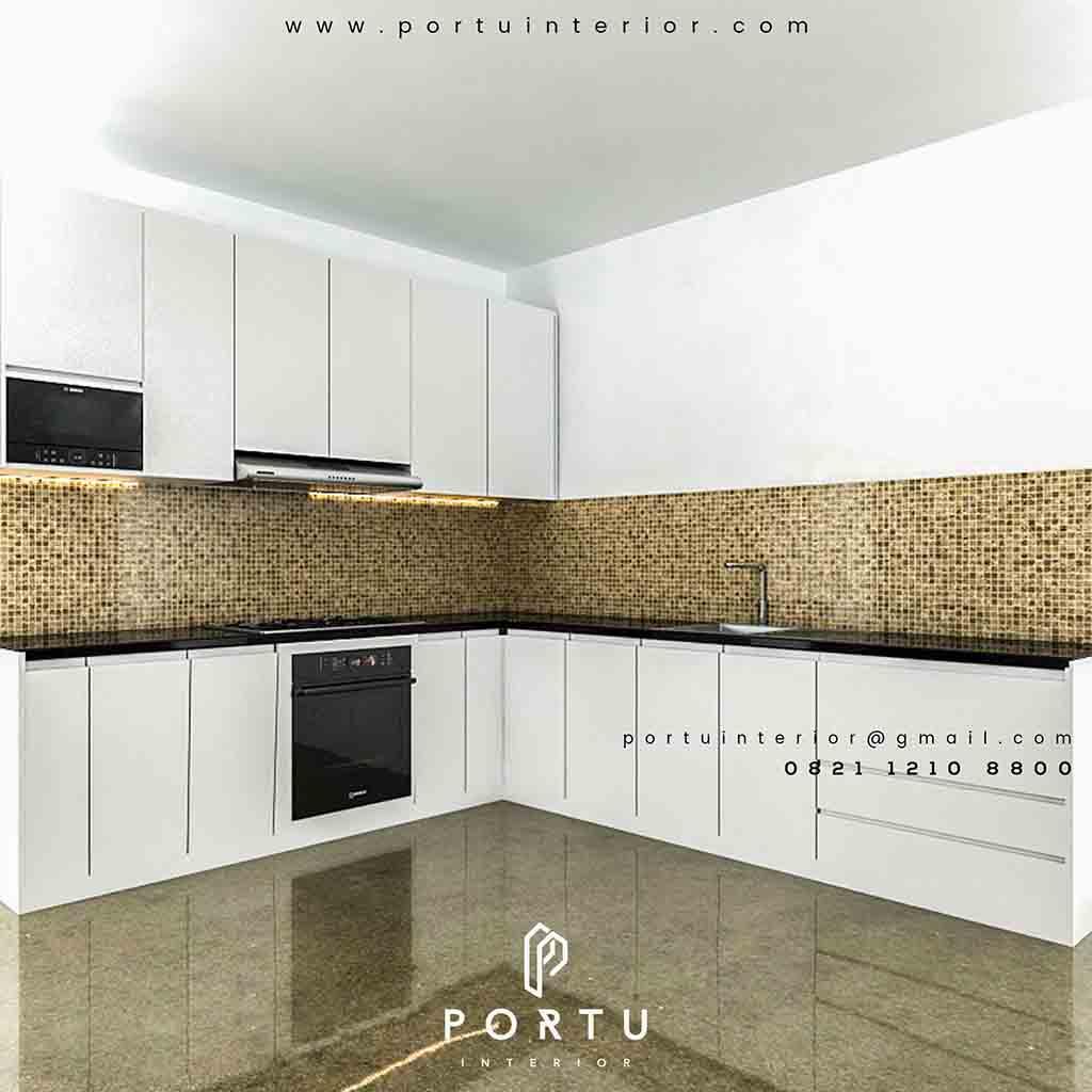 Kitchen Set Minimalis Sederhana Summarecon Bekasi Cluster Acacia Portu Interior