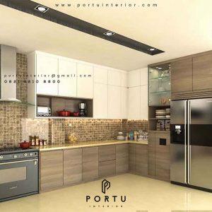 jasa pembuatan kitchen set minimalis custom Portu id3414