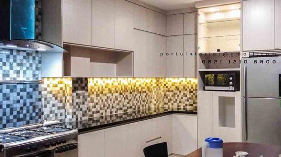 jasa pembuatan kitchen set minimalis di Bintaro by Portu id3414