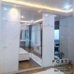 lemari sliding door minimalis modern by Portu Interior