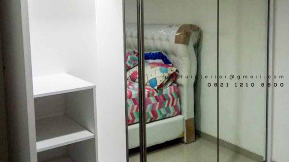 model lemari pakaian pintu sliding cermin by portu interior