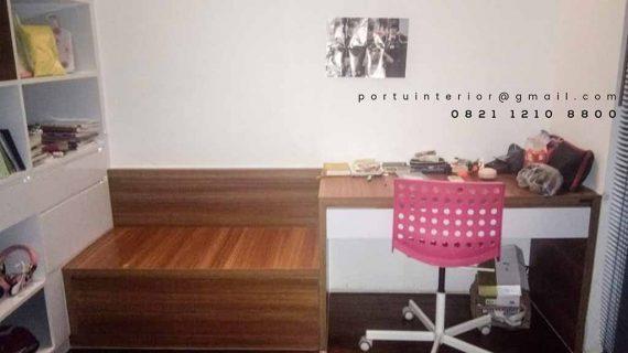contoh meja belajar minimalis custom by Portu Interior