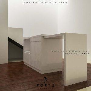 design meja makan dengan island by Portu