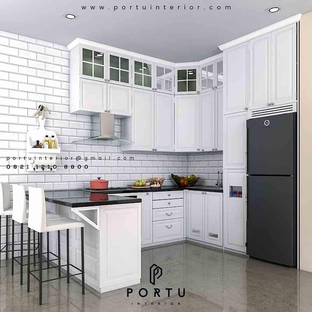 Dapur Lebih Mewah Dengan Kitchen Set Klasik Portu Interior
