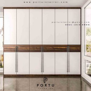 wardrobe design custom by Portu Interior