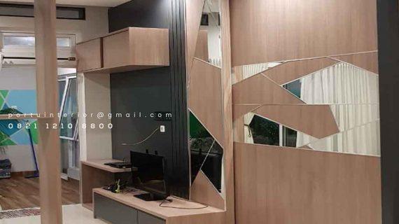 gambar backdrop tv kombinasi motif by Portu