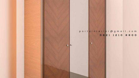 model lemari pakaian sliding kombinasi kaca