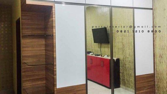 design lemari pakaian sliding minimalis letter i