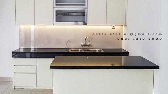 desain lemari dapur minimalis dengan island