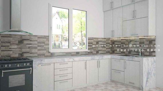 jual kitchen set minimalis modern letter l Portu Interior