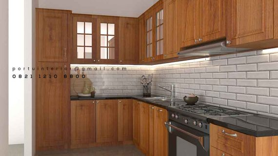 kitchen cabinets klasik letter L by Portu Interior