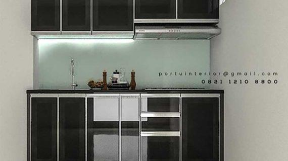 gambar kitchen set terbaru by Portu Interior