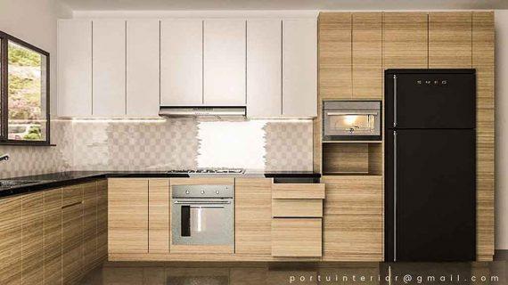 jual kitchen set minimalis modern kombinasi warna